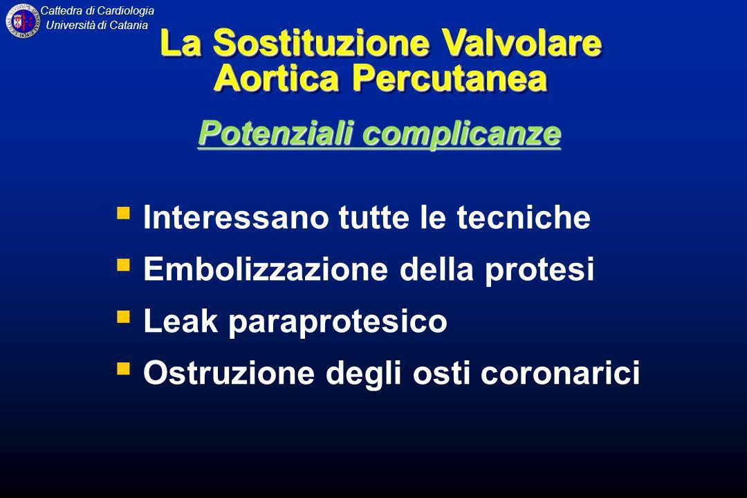 La Sostituzione Valvolare Aortica Percutanea Potenziali complicanze