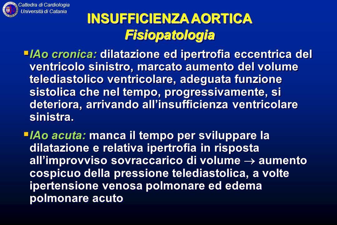 INSUFFICIENZA AORTICA Fisiopatologia