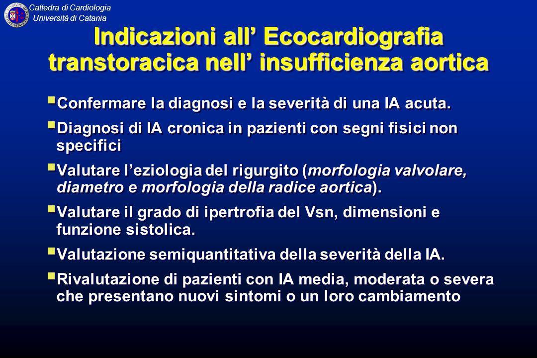Indicazioni all' Ecocardiografia transtoracica nell' insufficienza aortica