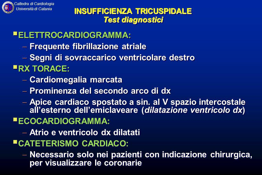 INSUFFICIENZA TRICUSPIDALE Test diagnostici