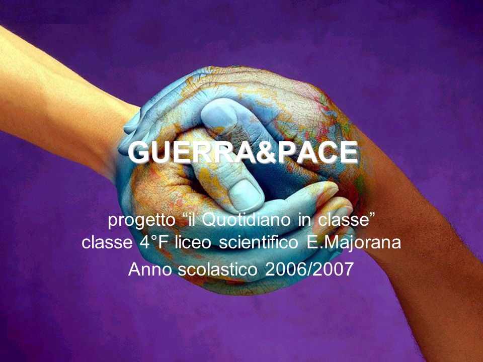 GUERRA&PACE progetto il Quotidiano in classe classe 4°F liceo scientifico E.Majorana.
