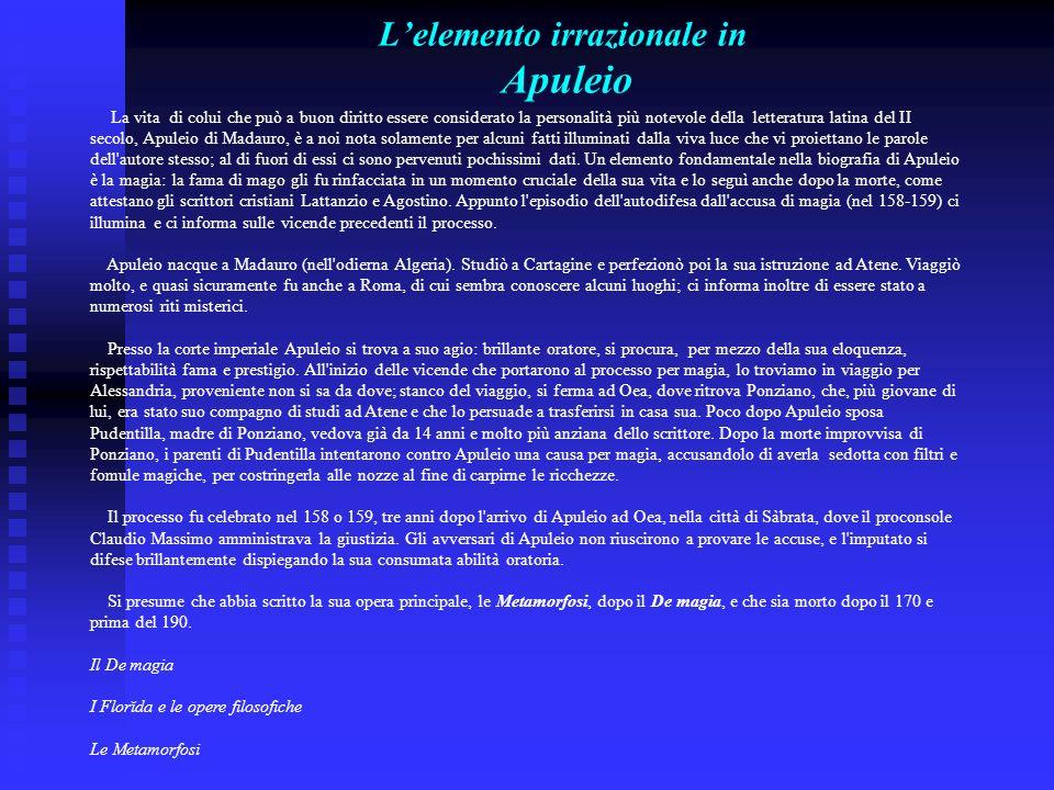 L'elemento irrazionale in Apuleio