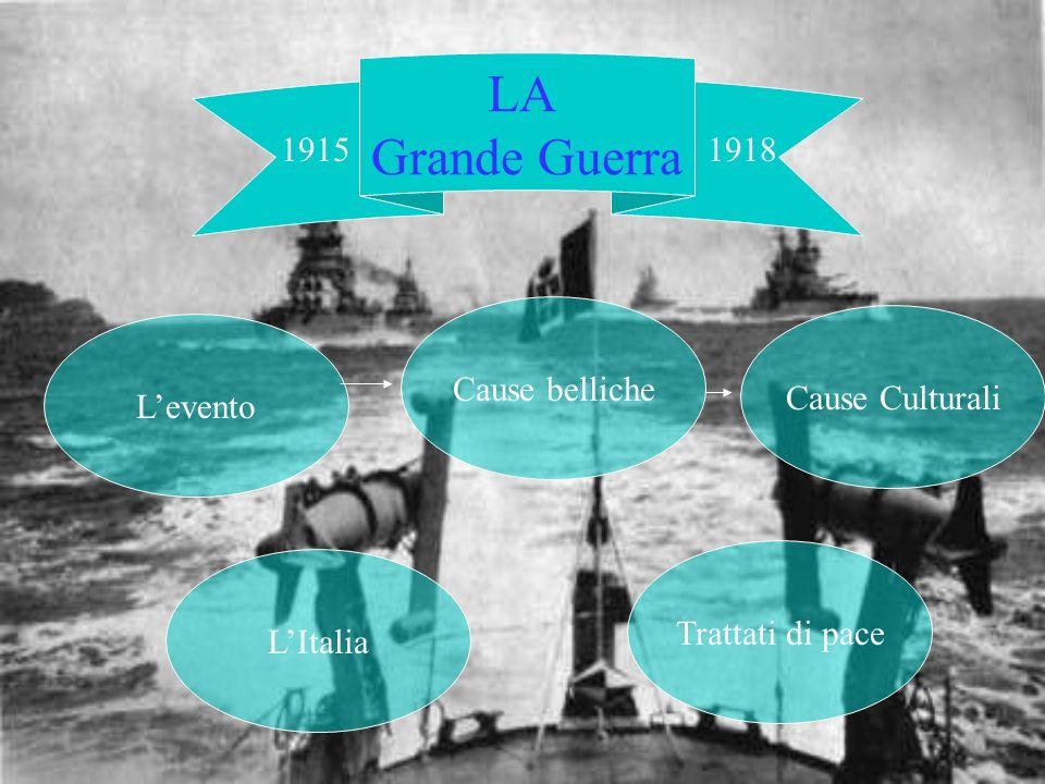 LA storia Grande Guerra 1915 1918 Cause belliche Cause Culturali