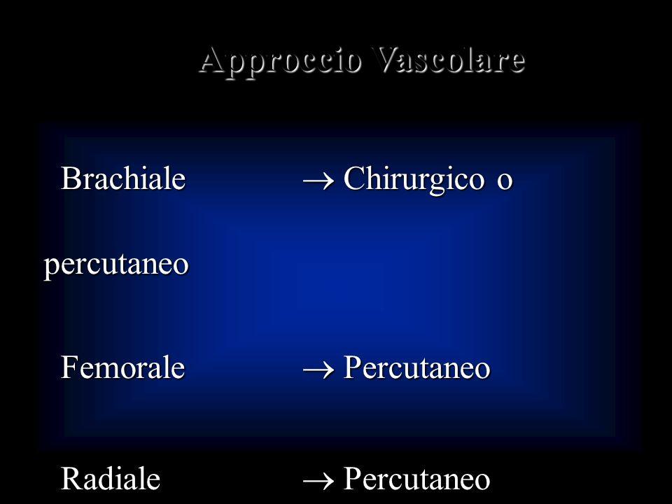 Approccio Vascolare Brachiale  Chirurgico o percutaneo