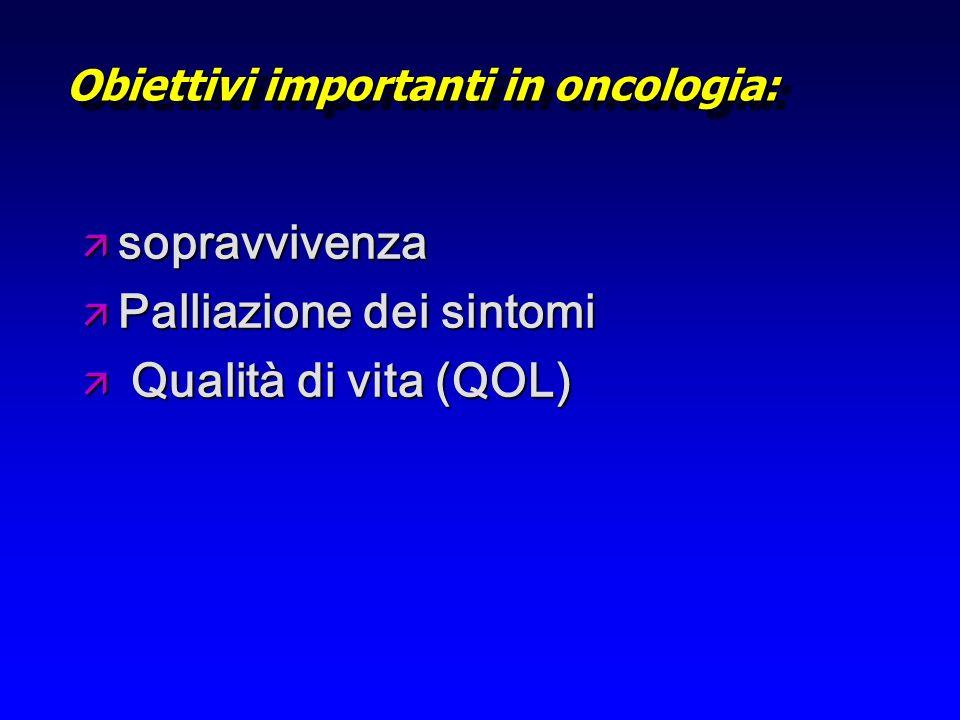 Obiettivi importanti in oncologia: