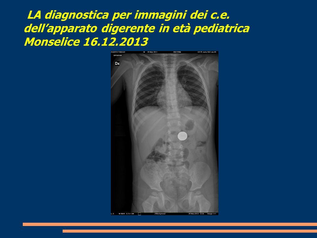 LA diagnostica per immagini dei c. e