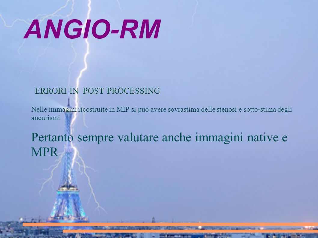 ANGIO-RM ERRORI IN POST PROCESSING