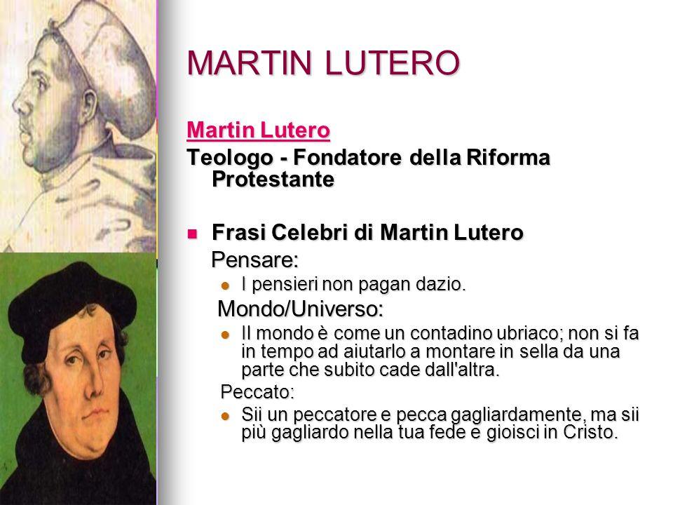 MARTIN LUTERO Martin Lutero