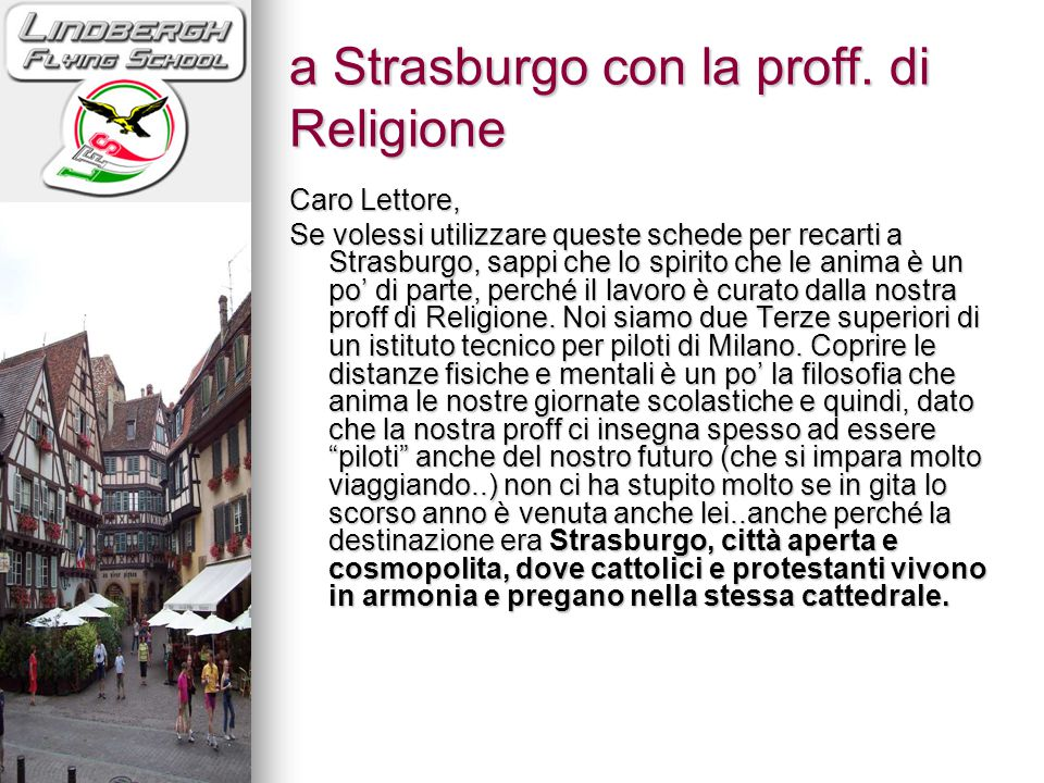 a Strasburgo con la proff. di Religione
