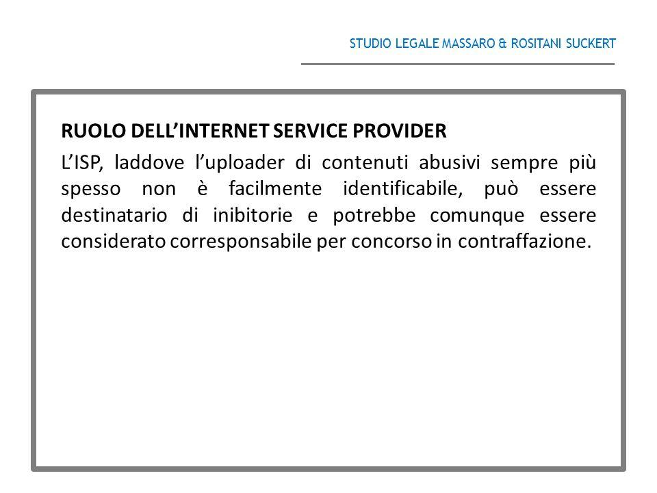 RUOLO DELL'INTERNET SERVICE PROVIDER