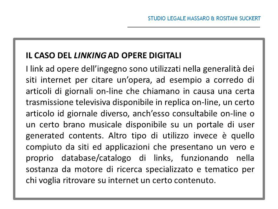 IL CASO DEL LINKING AD OPERE DIGITALI