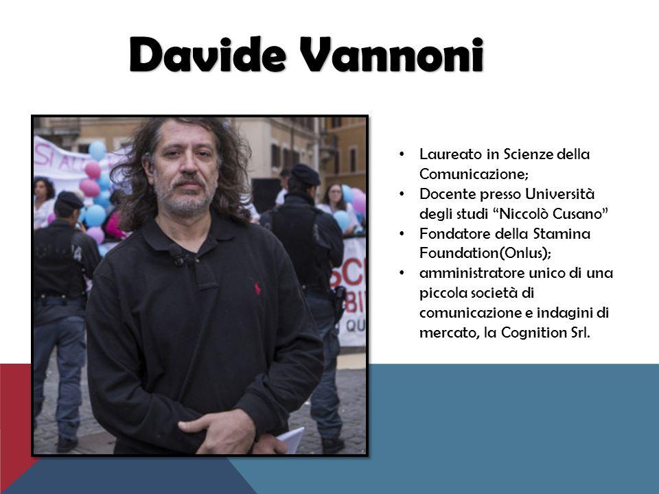 Davide Vannoni Laureato in Scienze della Comunicazione;