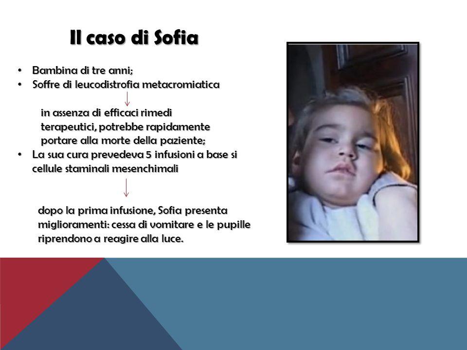 Il caso di Sofia Bambina di tre anni;