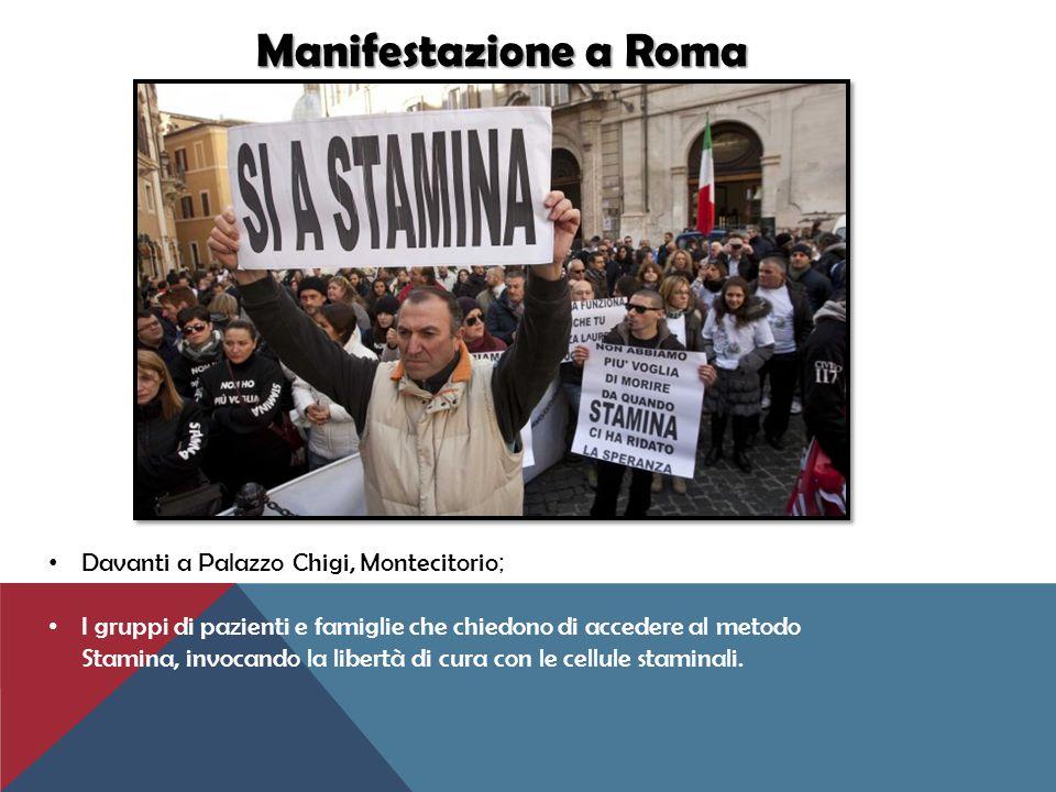 Manifestazione a Roma Davanti a Palazzo Chigi, Montecitorio;