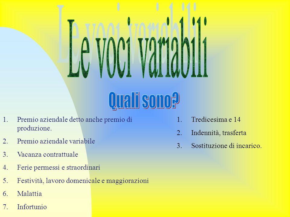 Le voci variabili Quali sono