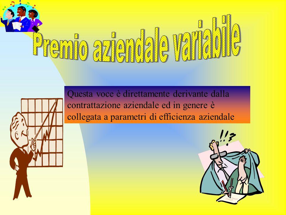 Premio aziendale variabile