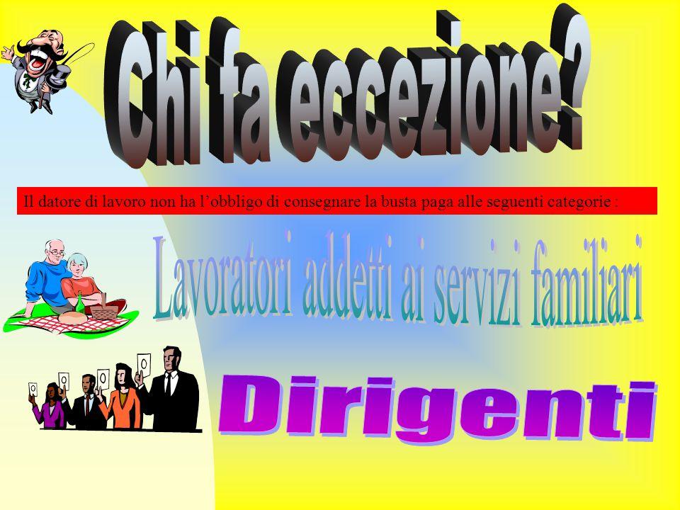 Lavoratori addetti ai servizi familiari