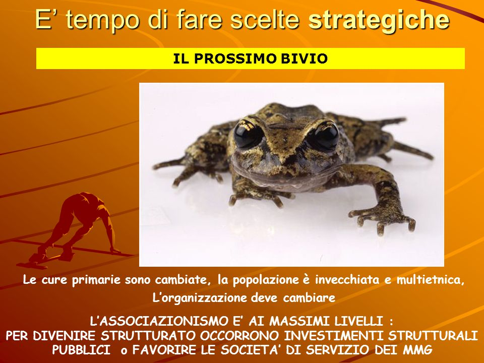 E' tempo di fare scelte strategiche