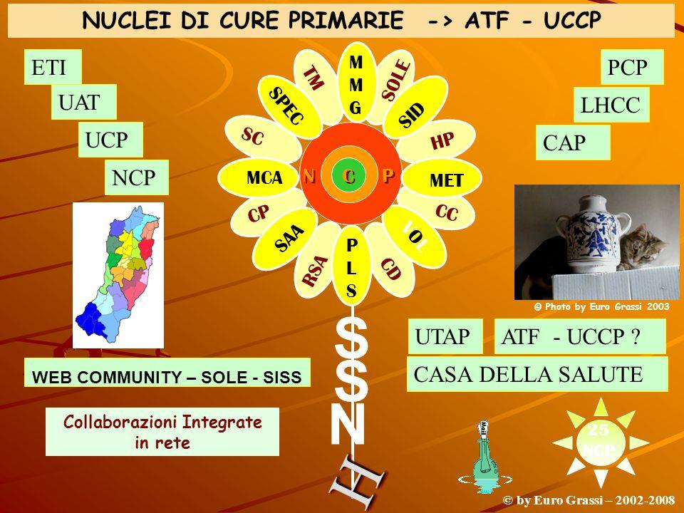 H S S N NUCLEI DI CURE PRIMARIE -> ATF - UCCP ETI PCP UAT LHCC UCP