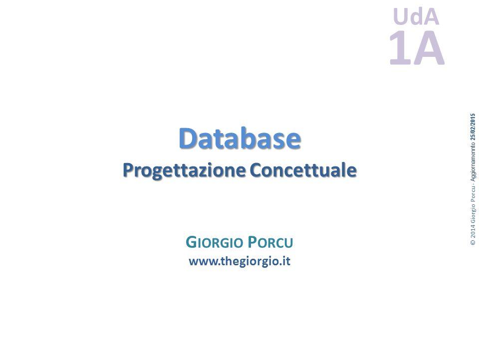 Database Progettazione Concettuale