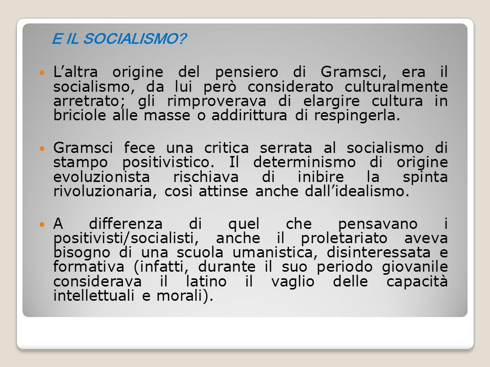 E IL SOCIALISMO