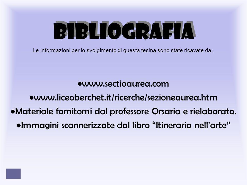 BIBLIOGRAFIA www.sectioaurea.com