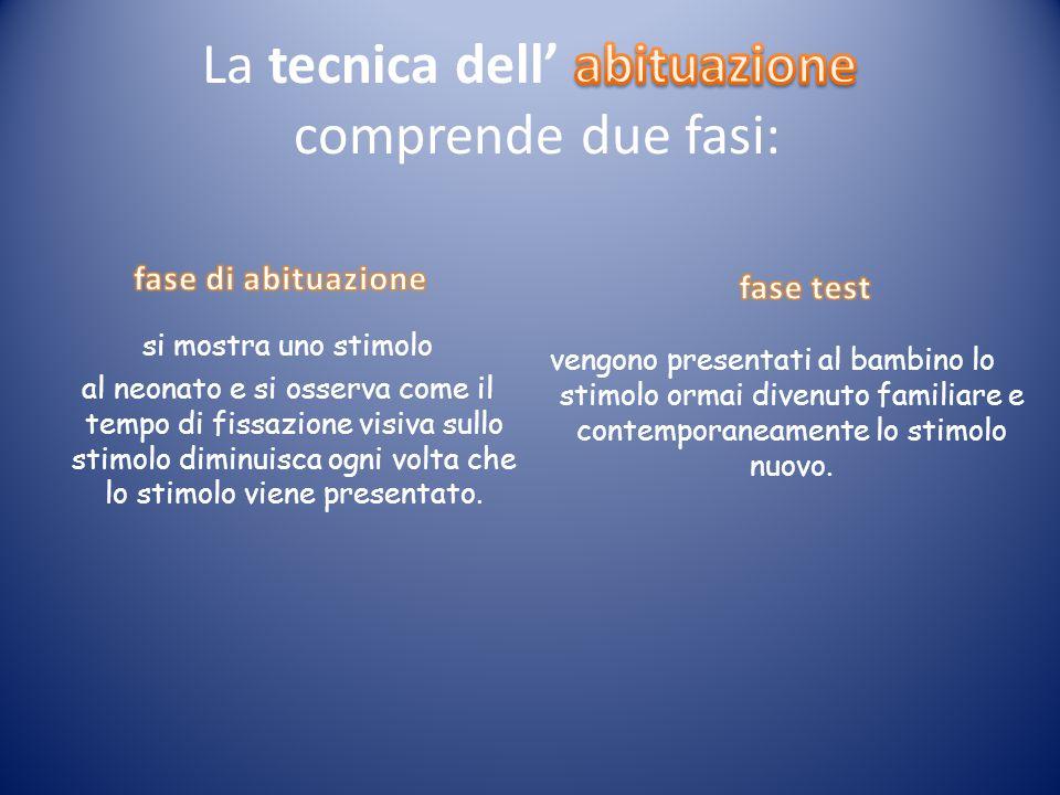 La tecnica dell' abituazione comprende due fasi: