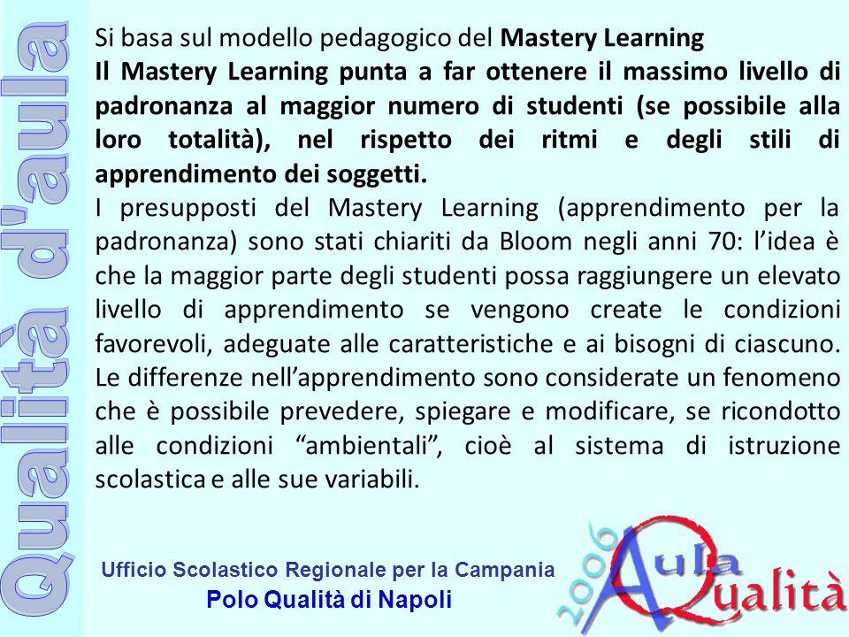 Si basa sul modello pedagogico del Mastery Learning