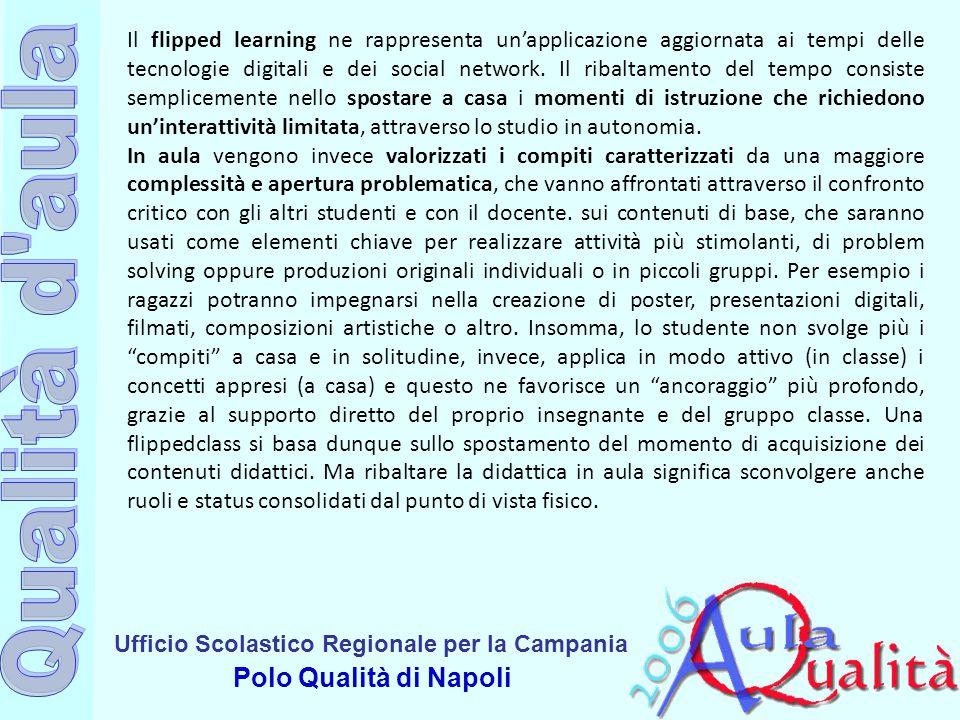 Il flipped learning ne rappresenta un'applicazione aggiornata ai tempi delle tecnologie digitali e dei social network. Il ribaltamento del tempo consiste semplicemente nello spostare a casa i momenti di istruzione che richiedono un'interattività limitata, attraverso lo studio in autonomia.
