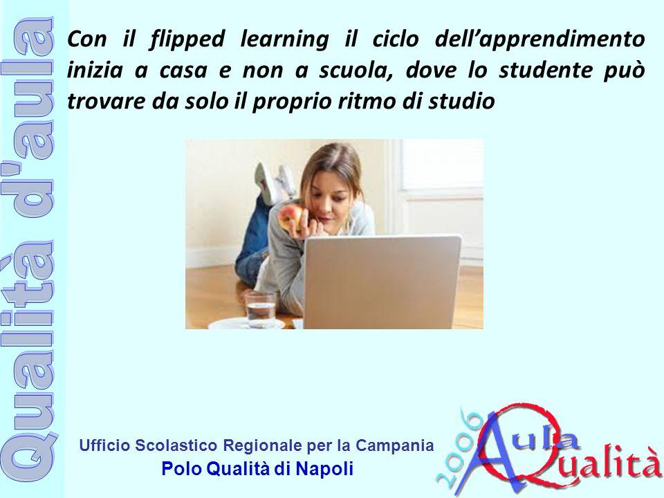 Con il flipped learning il ciclo dell'apprendimento inizia a casa e non a scuola, dove lo studente può trovare da solo il proprio ritmo di studio