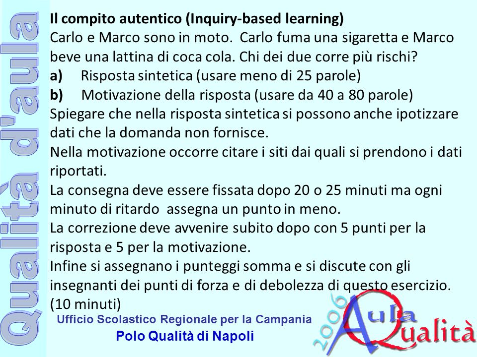 Il compito autentico (Inquiry-based learning)