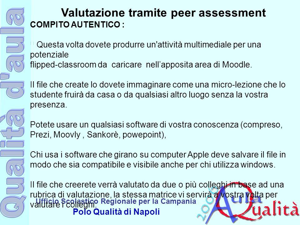 Valutazione tramite peer assessment