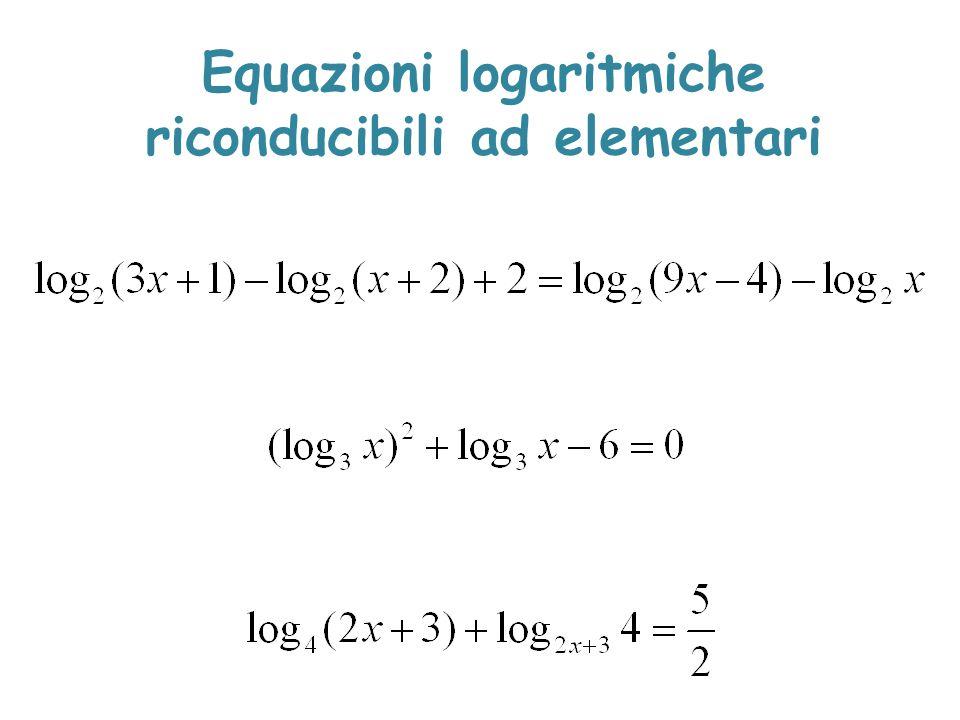 Equazioni logaritmiche riconducibili ad elementari