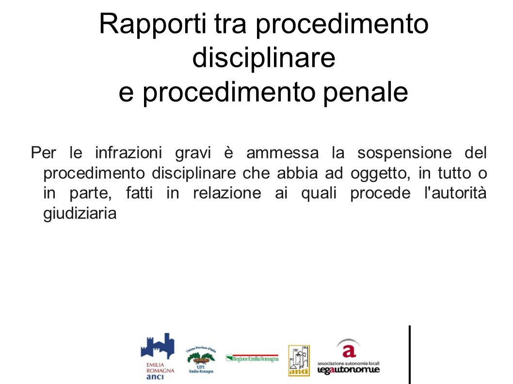Rapporti tra procedimento disciplinare e procedimento penale