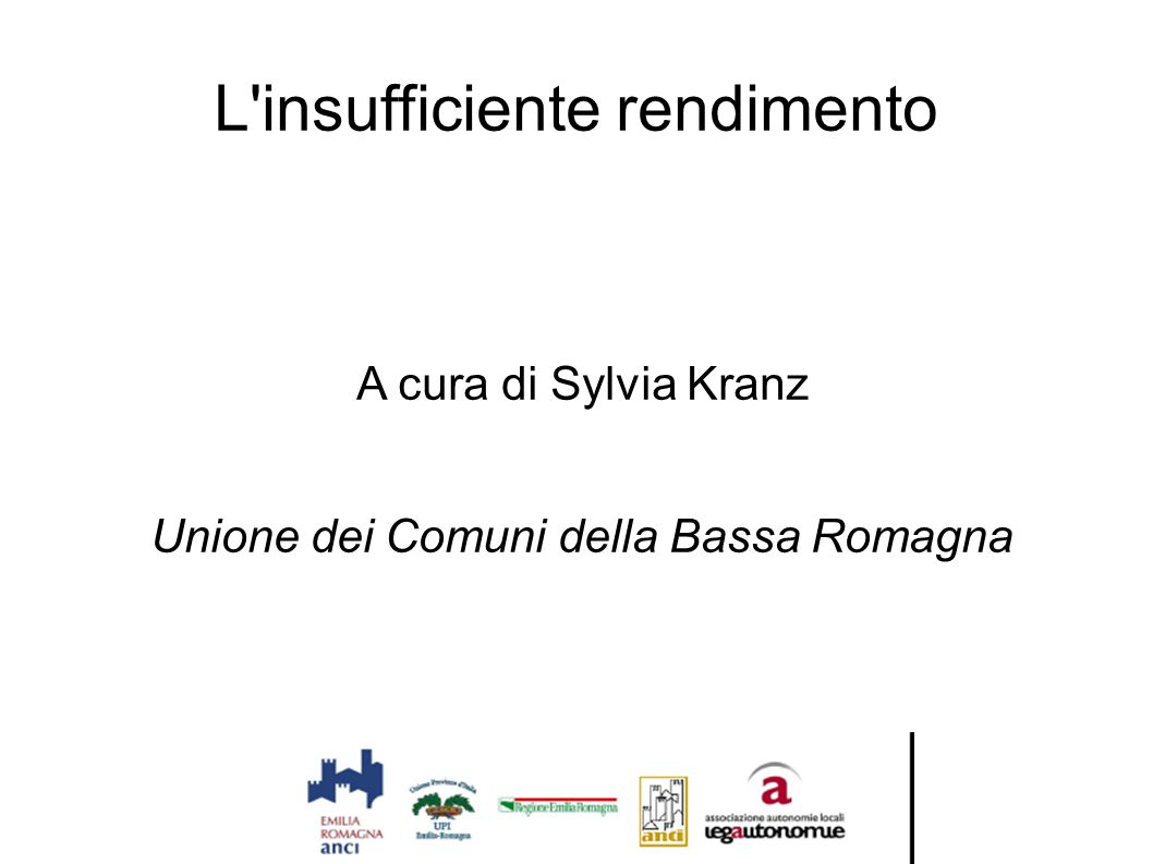 L insufficiente rendimento