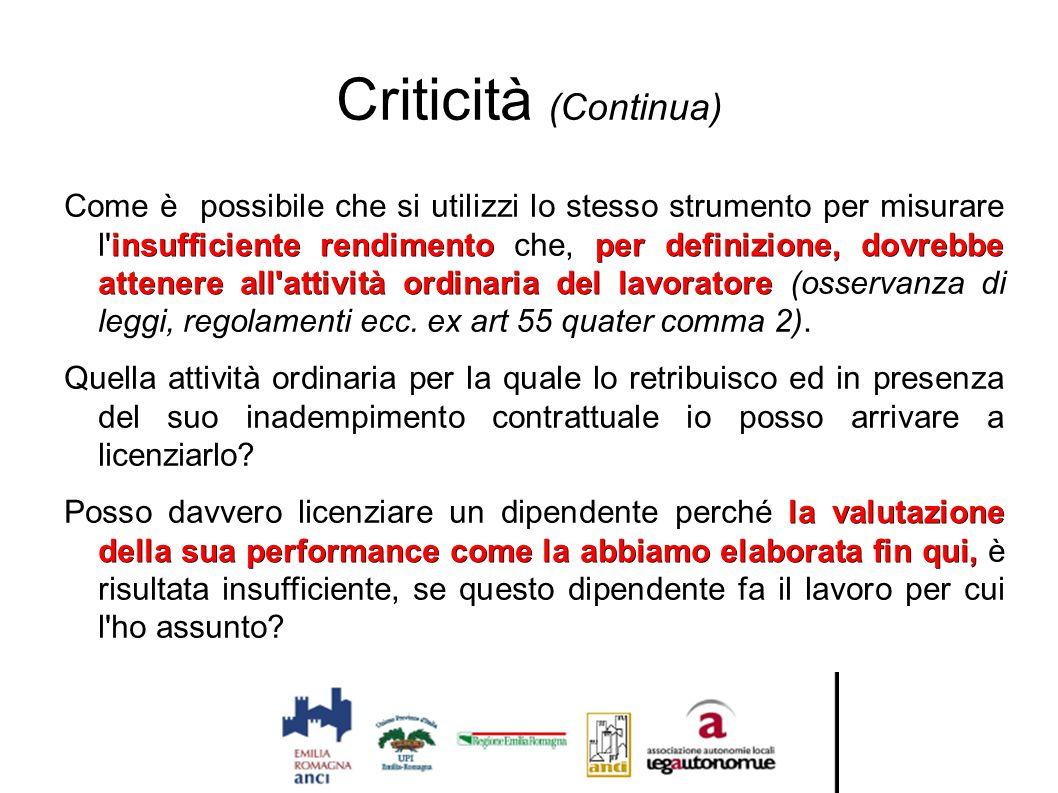 Criticità (Continua)