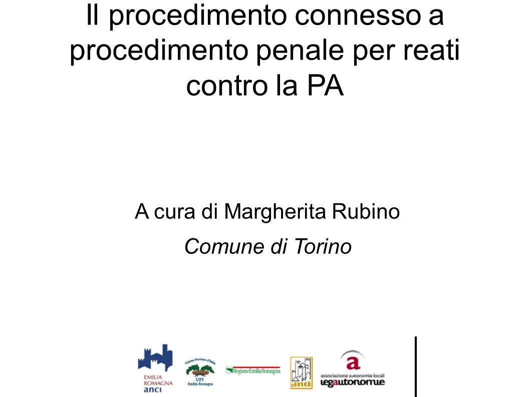 Il procedimento connesso a procedimento penale per reati contro la PA