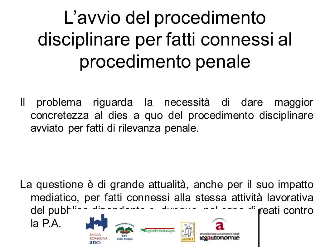 L'avvio del procedimento disciplinare per fatti connessi al procedimento penale