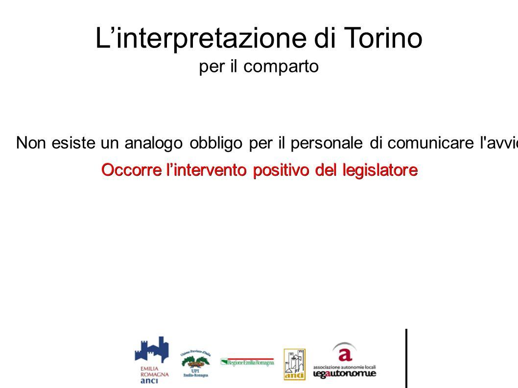 L'interpretazione di Torino per il comparto