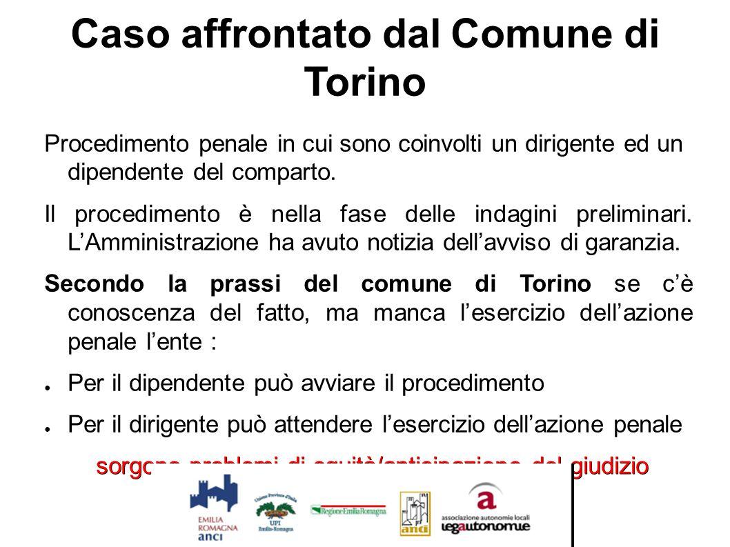 Caso affrontato dal Comune di Torino