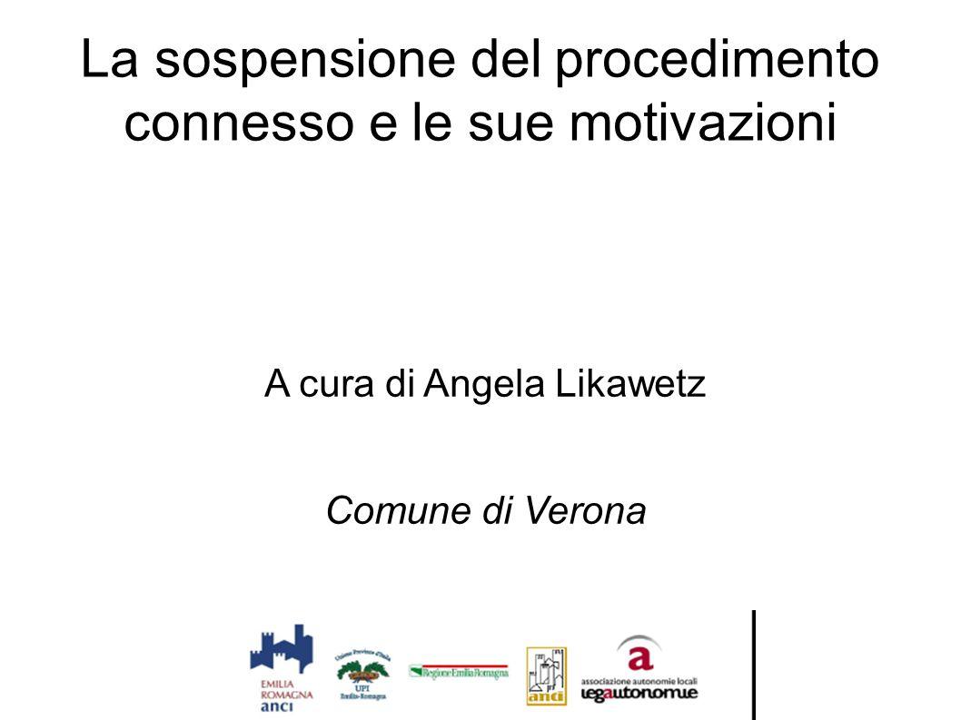 La sospensione del procedimento connesso e le sue motivazioni