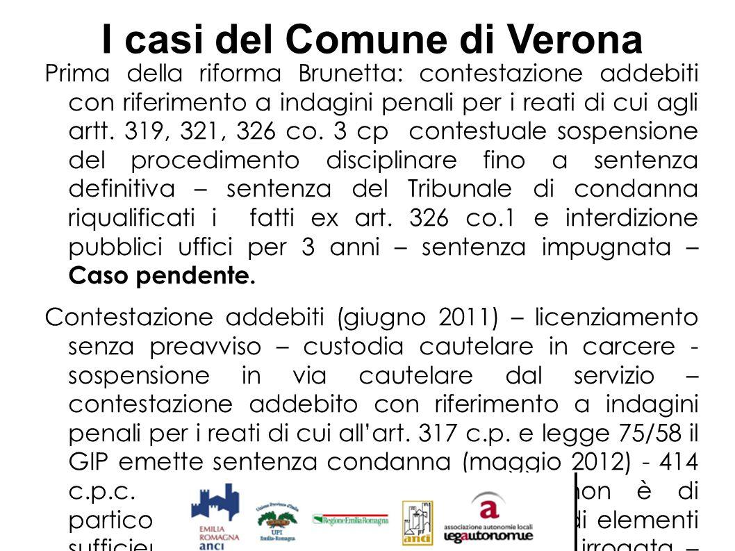 I casi del Comune di Verona