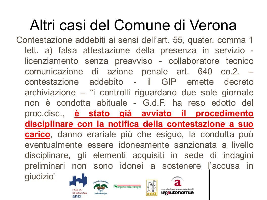 Altri casi del Comune di Verona