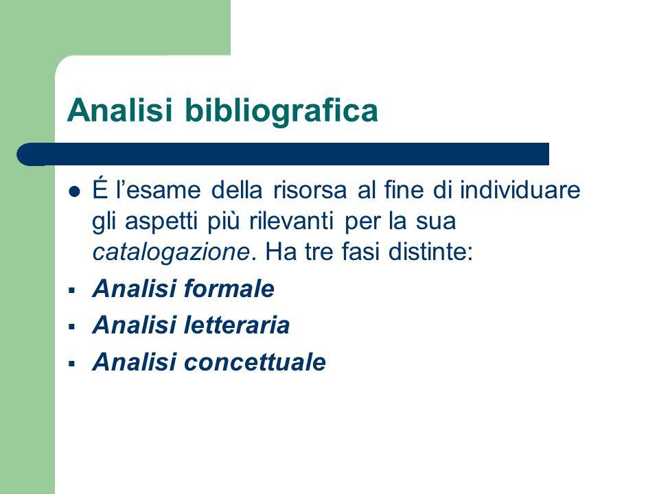 Analisi bibliografica