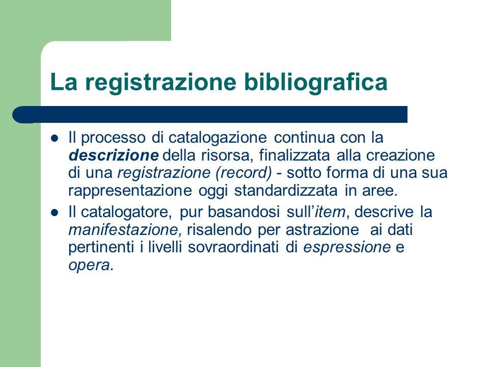 La registrazione bibliografica