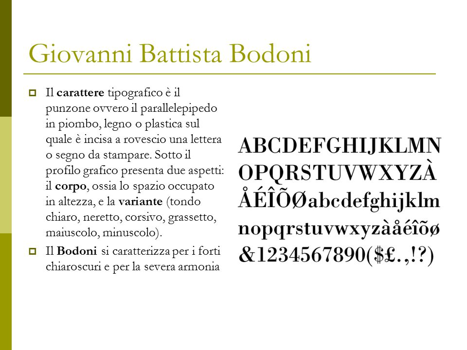 Giovanni Battista Bodoni