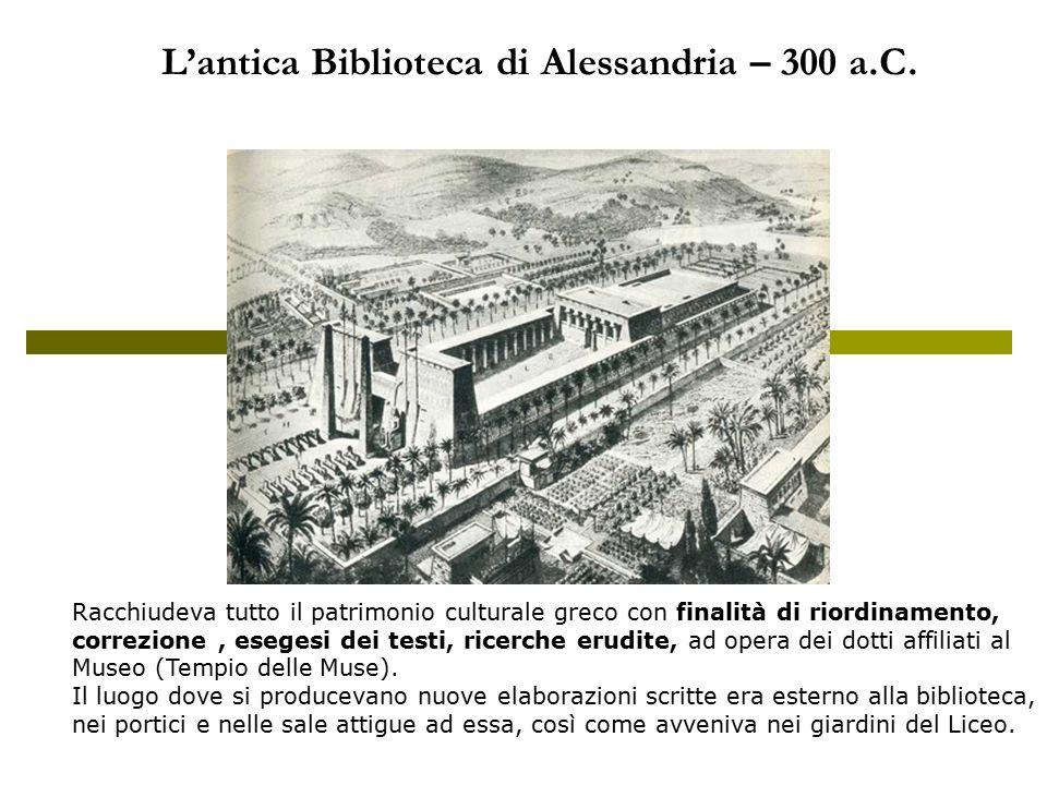 L'antica Biblioteca di Alessandria – 300 a.C.