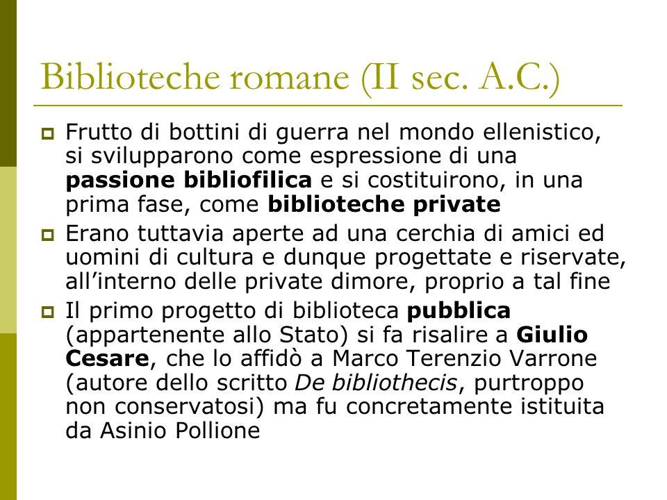 Biblioteche romane (II sec. A.C.)