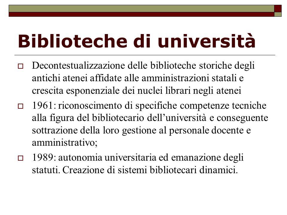 Biblioteche di università