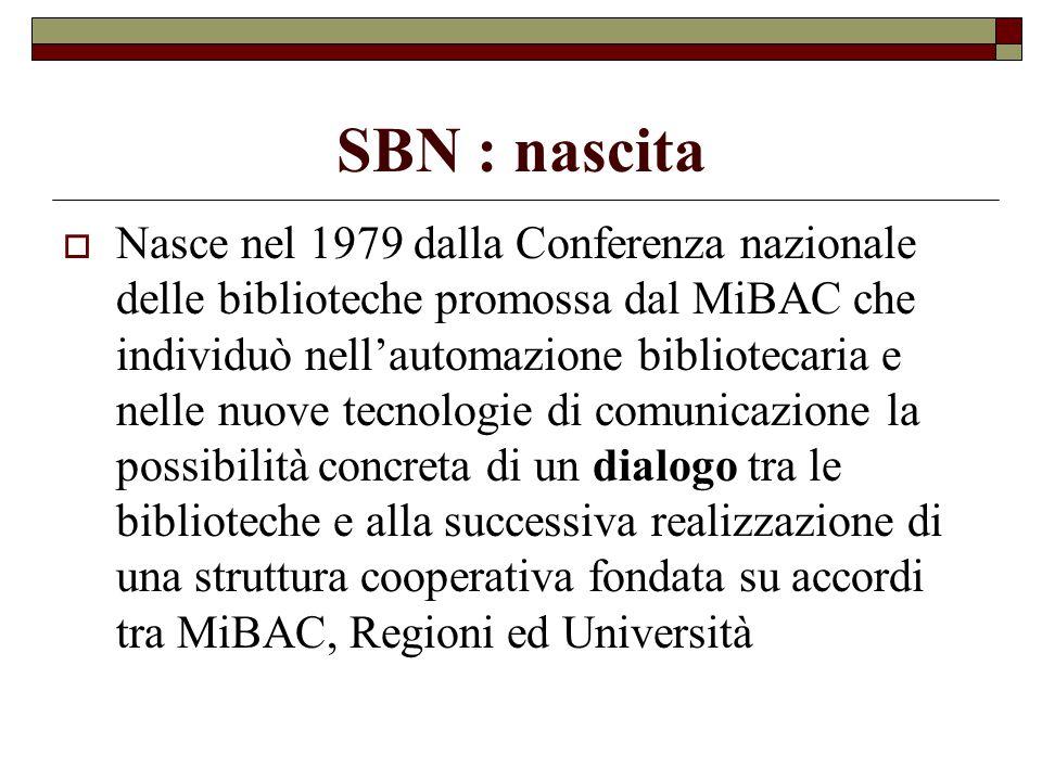 SBN : nascita